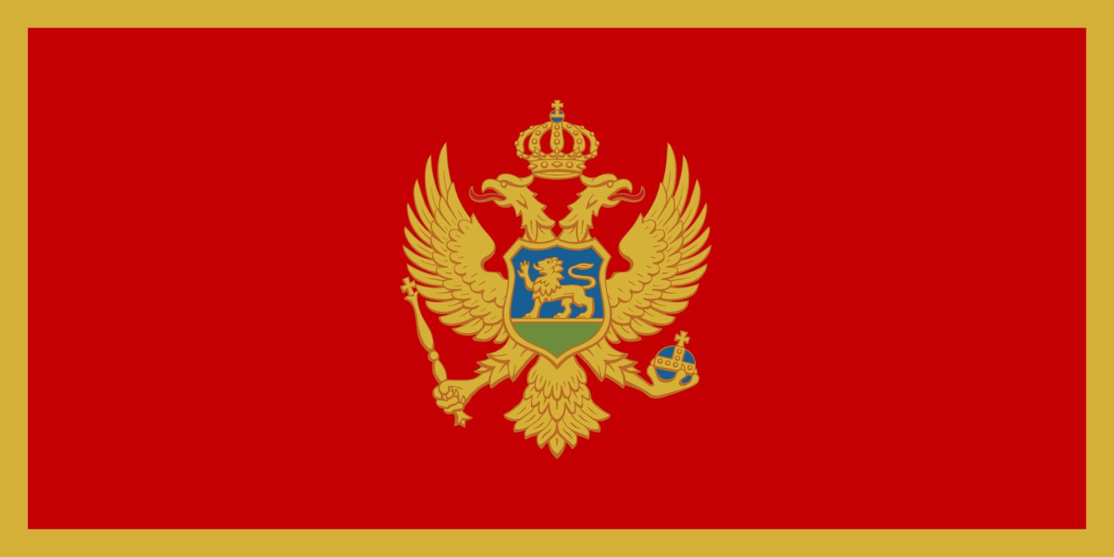 Flagge im Querformat Land Montenegro 150x100 cm