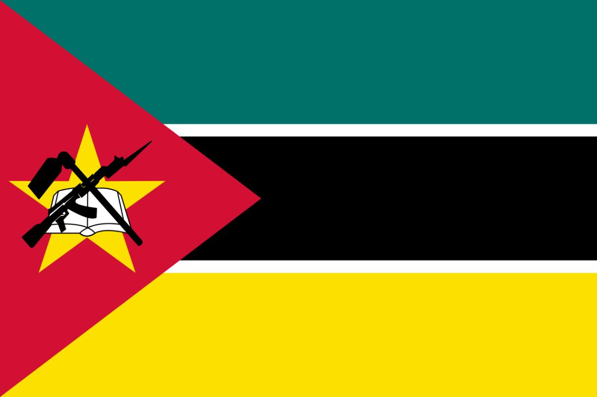 Flagge im Querformat Land Mosambik 150x100 cm