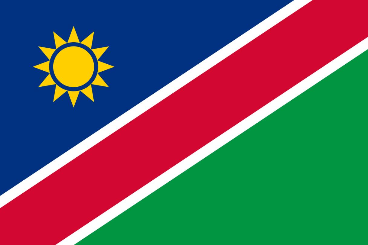 Flagge im Querformat Land Namibia 150x100 cm