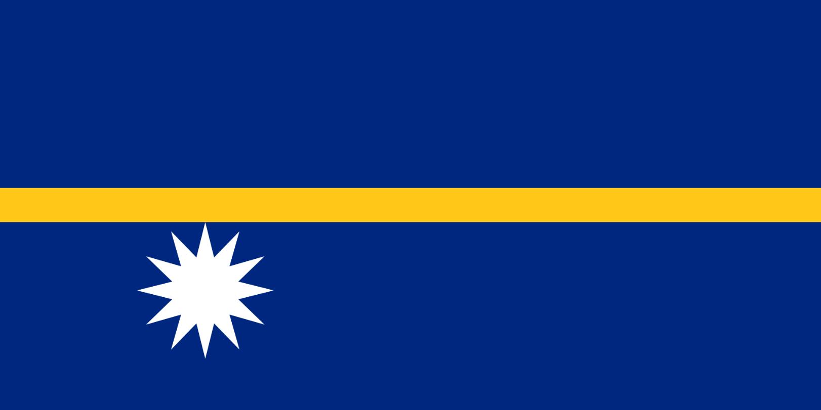 Flagge im Querformat Land Nauru 150x100 cm
