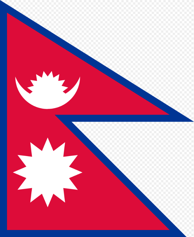 Flagge im Querformat Land Nepal 150x100 cm