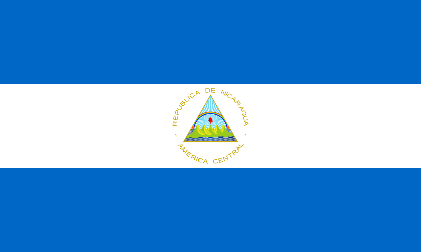 Flagge im Querformat Land Nicaragua 150x100 cm