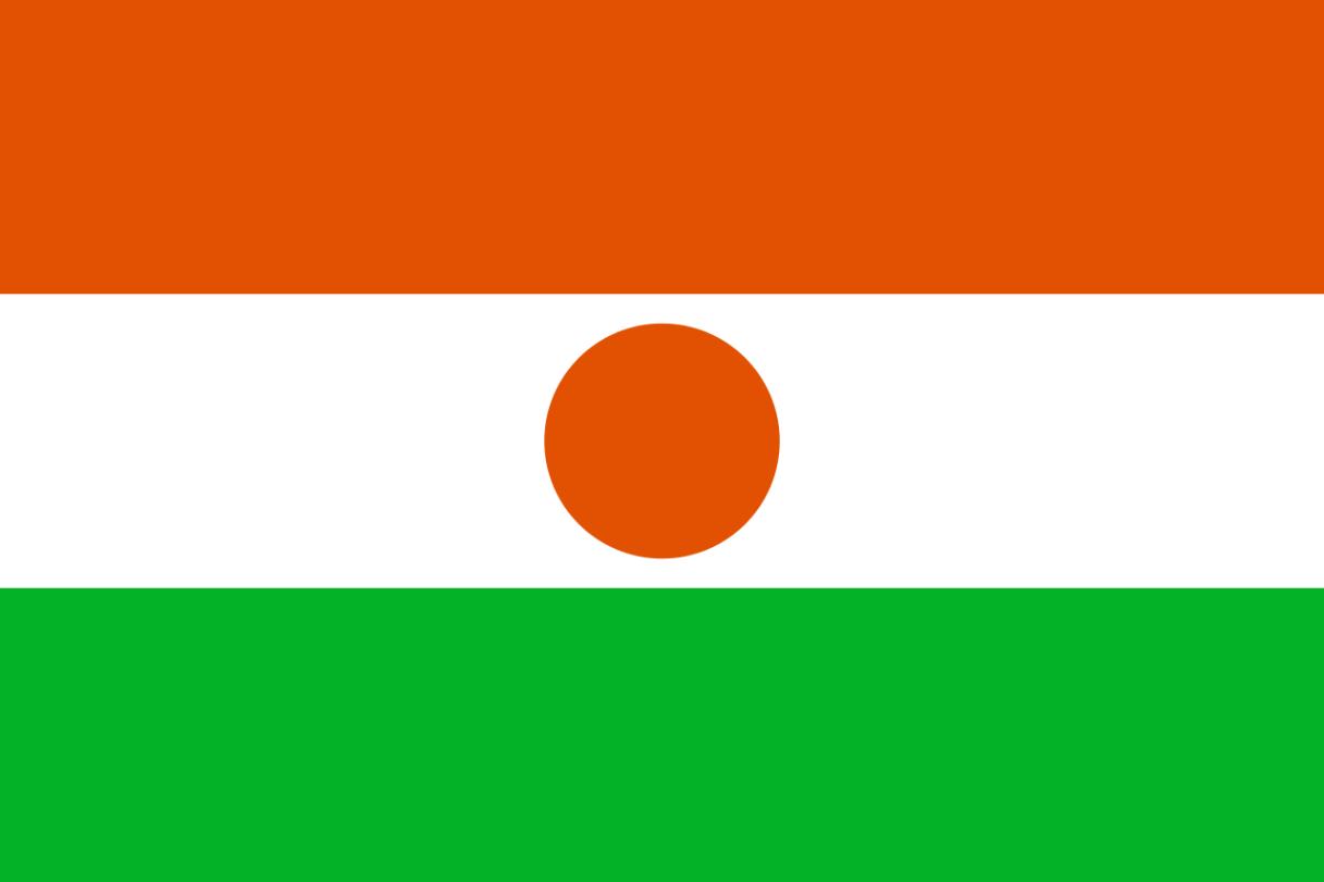 Flagge im Querformat Land Niger 150x100 cm