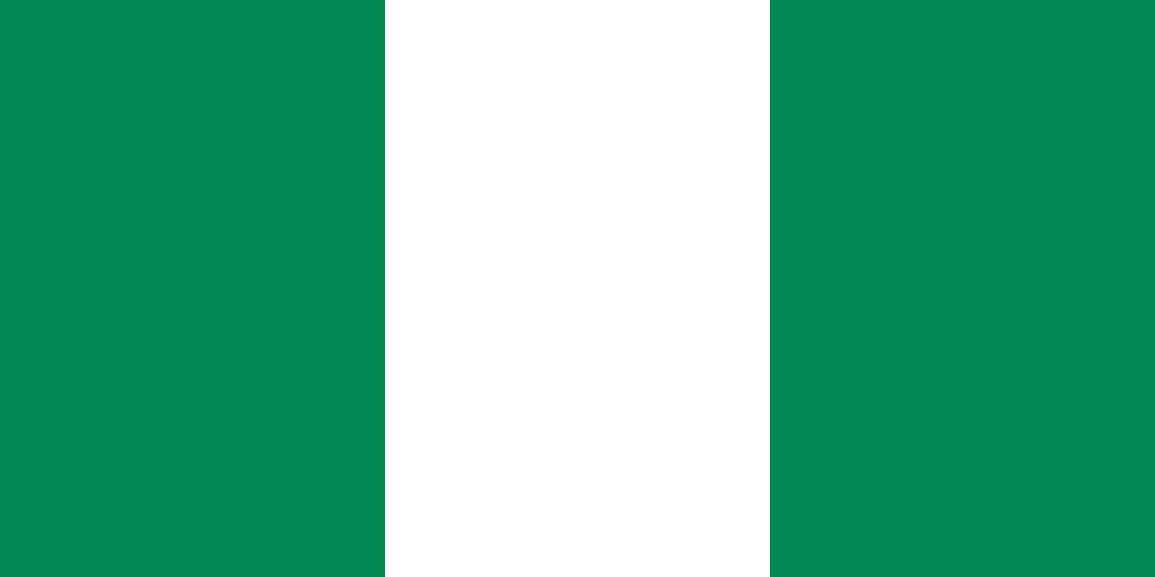 Flagge im Querformat Land Nigeria 150x100 cm