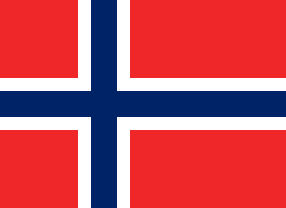 Flagge im Querformat Land Norwegen 150x100 cm