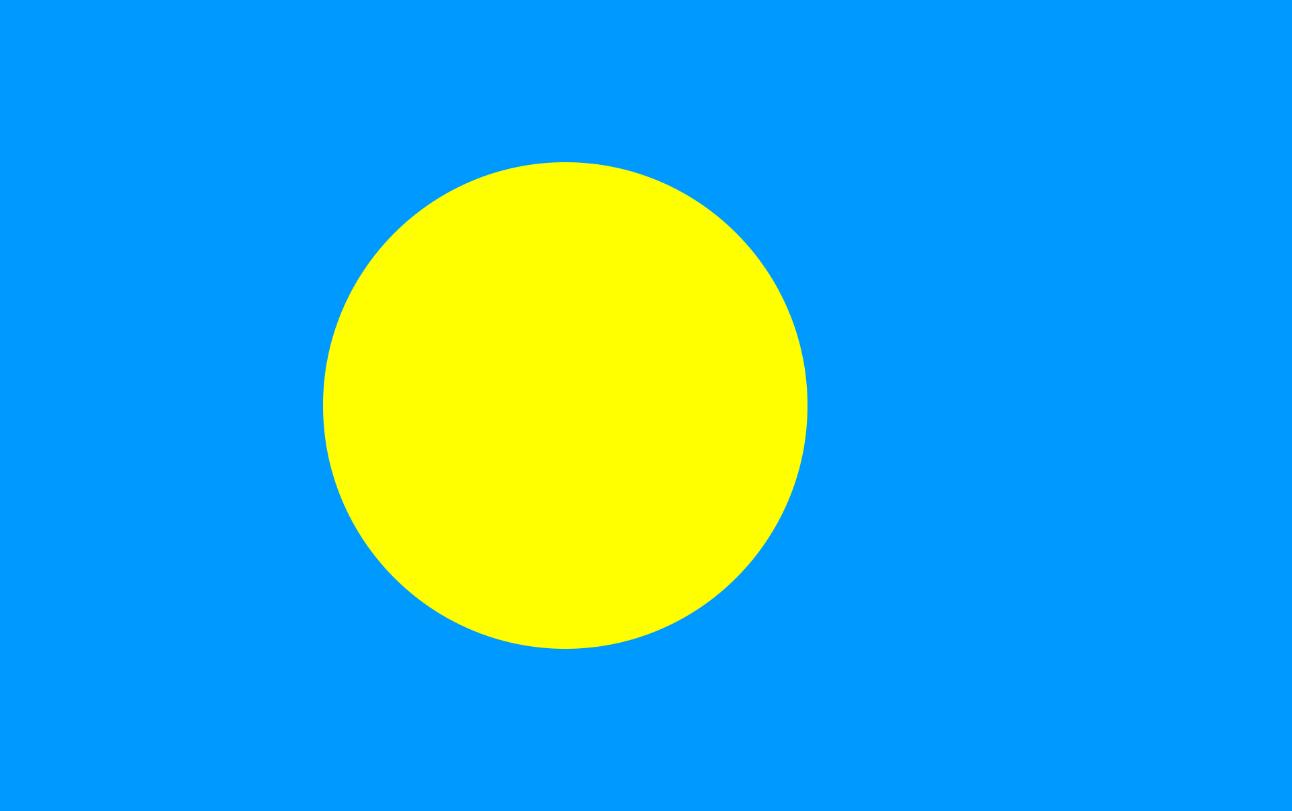 Flagge im Querformat Land Palau 150x100 cm