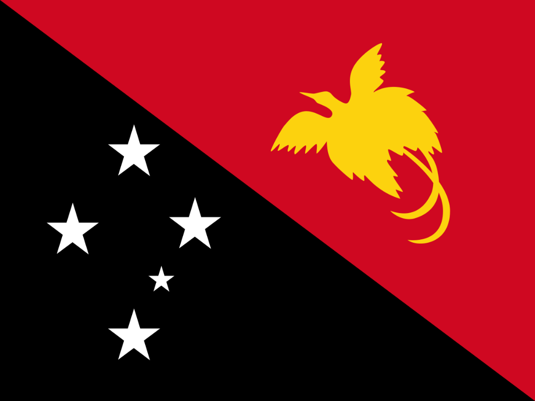 Flagge im Querformat Land Papua-Neuguinea 150x100 cm