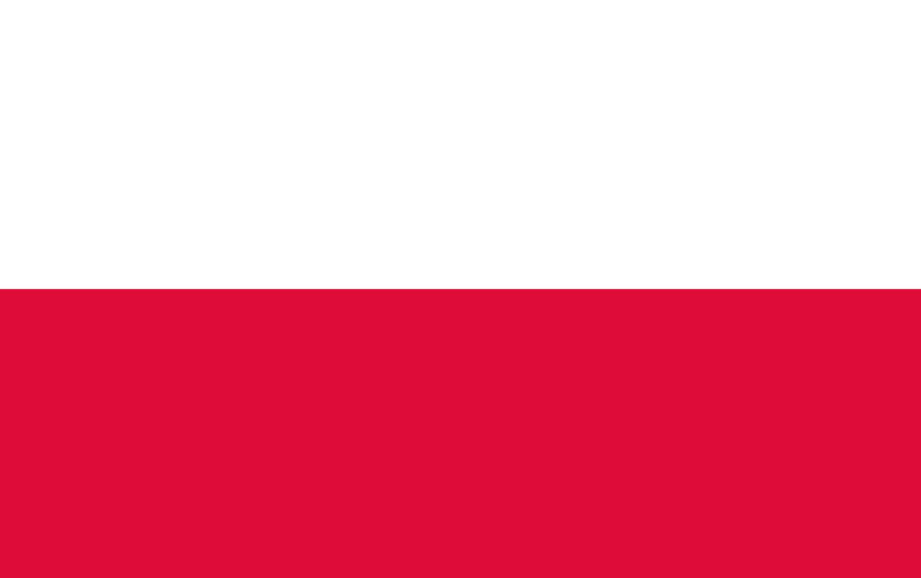 Flagge im Querformat Land Polen 150x100 cm