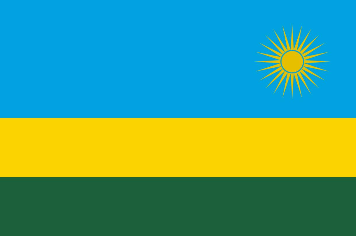 Flagge im Querformat Land Ruanda 150x100 cm