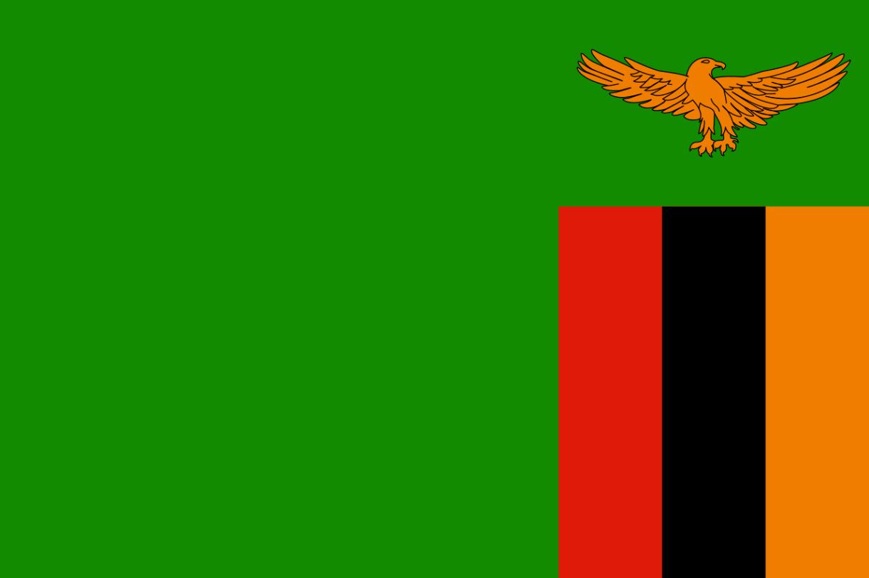 Flagge im Querformat Land Sambia 150x100 cm