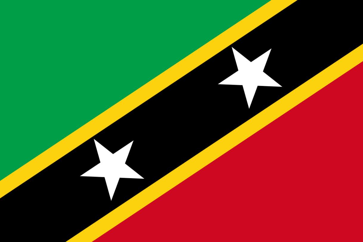 Flagge im Querformat Land St. Kitts / Nevis 150x100 cm