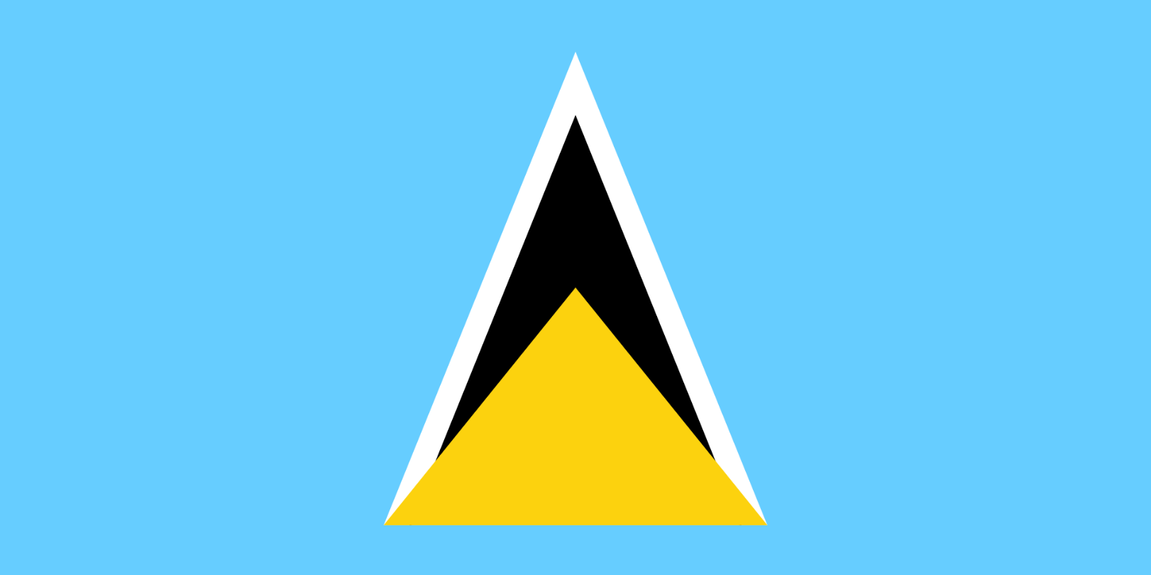 Flagge im Querformat Land St. Lucia 150x100 cm