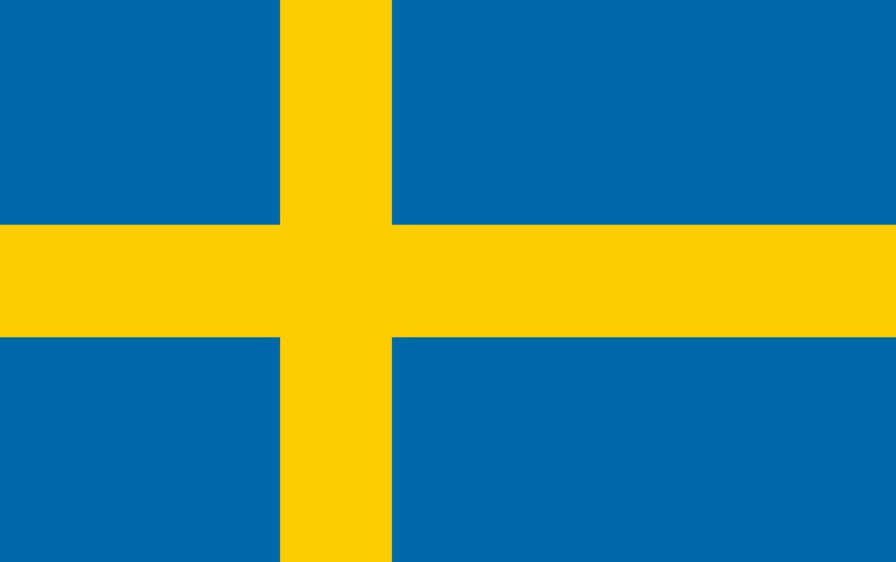 Flagge im Querformat Land Schweden 150x100 cm