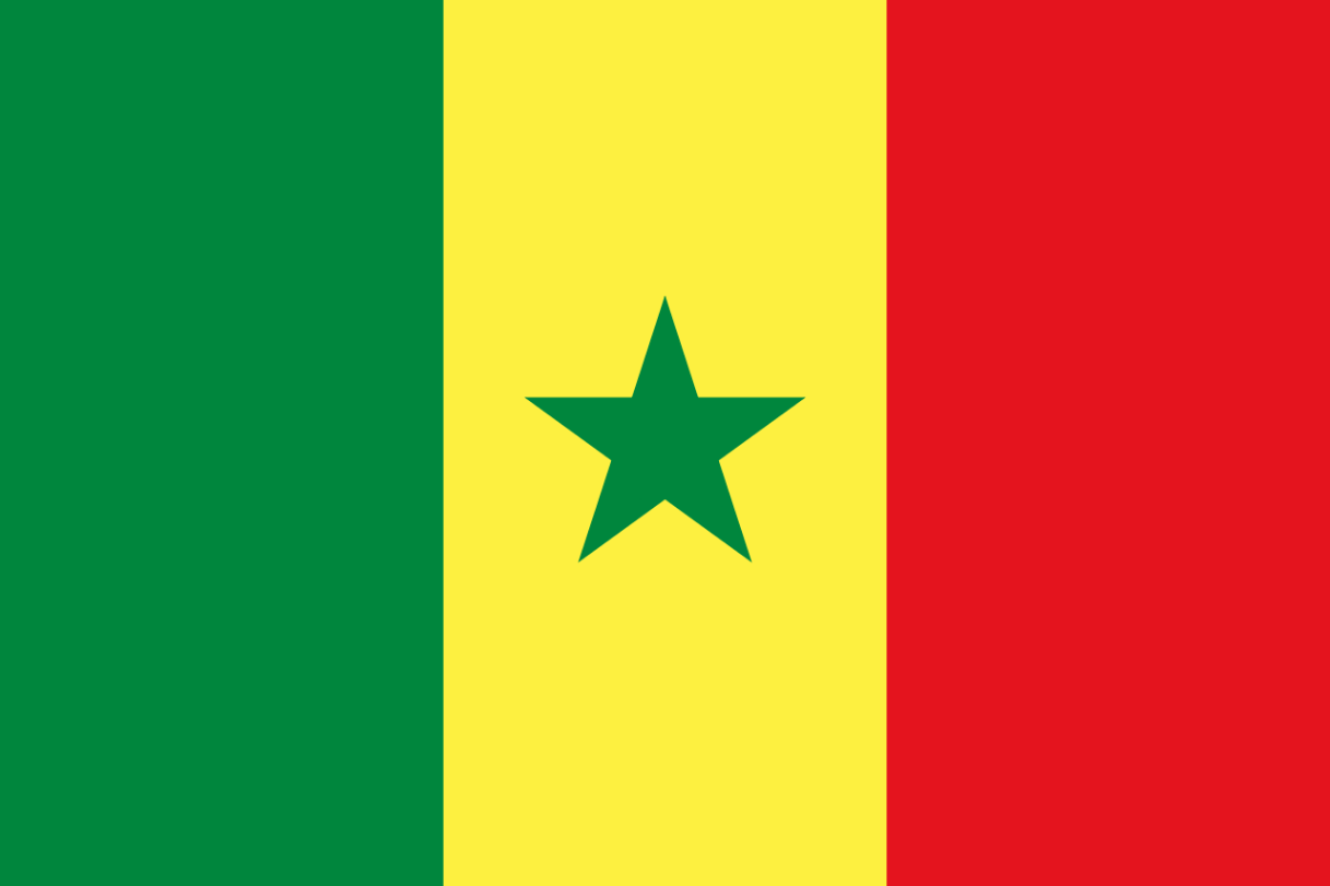 Flagge im Querformat Land Senegal 150x100 cm
