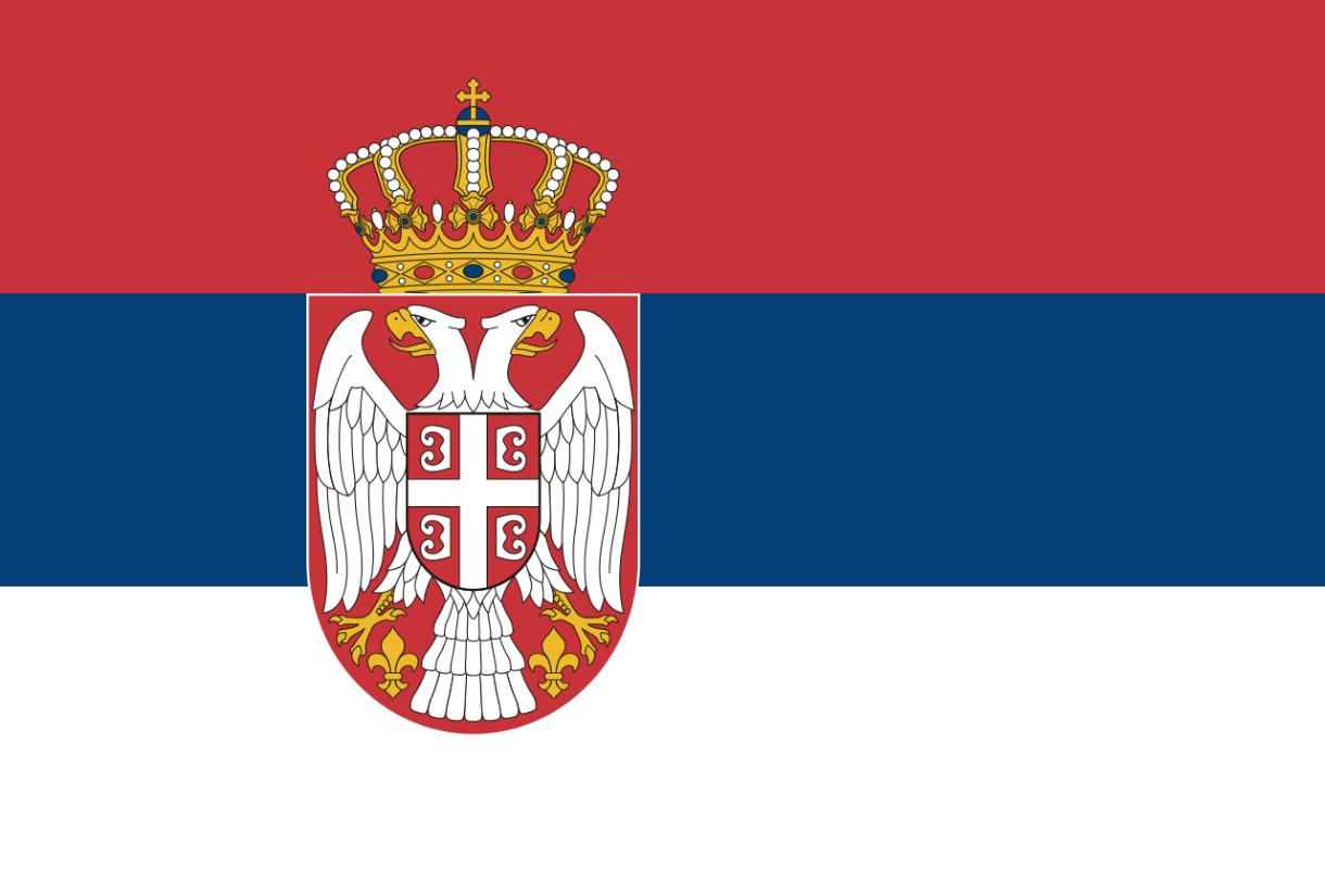 Flagge im Querformat Land Serbien 150x100 cm
