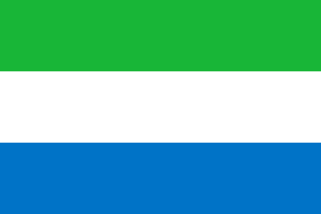 Flagge im Querformat Land Sierra Leone 150x100 cm