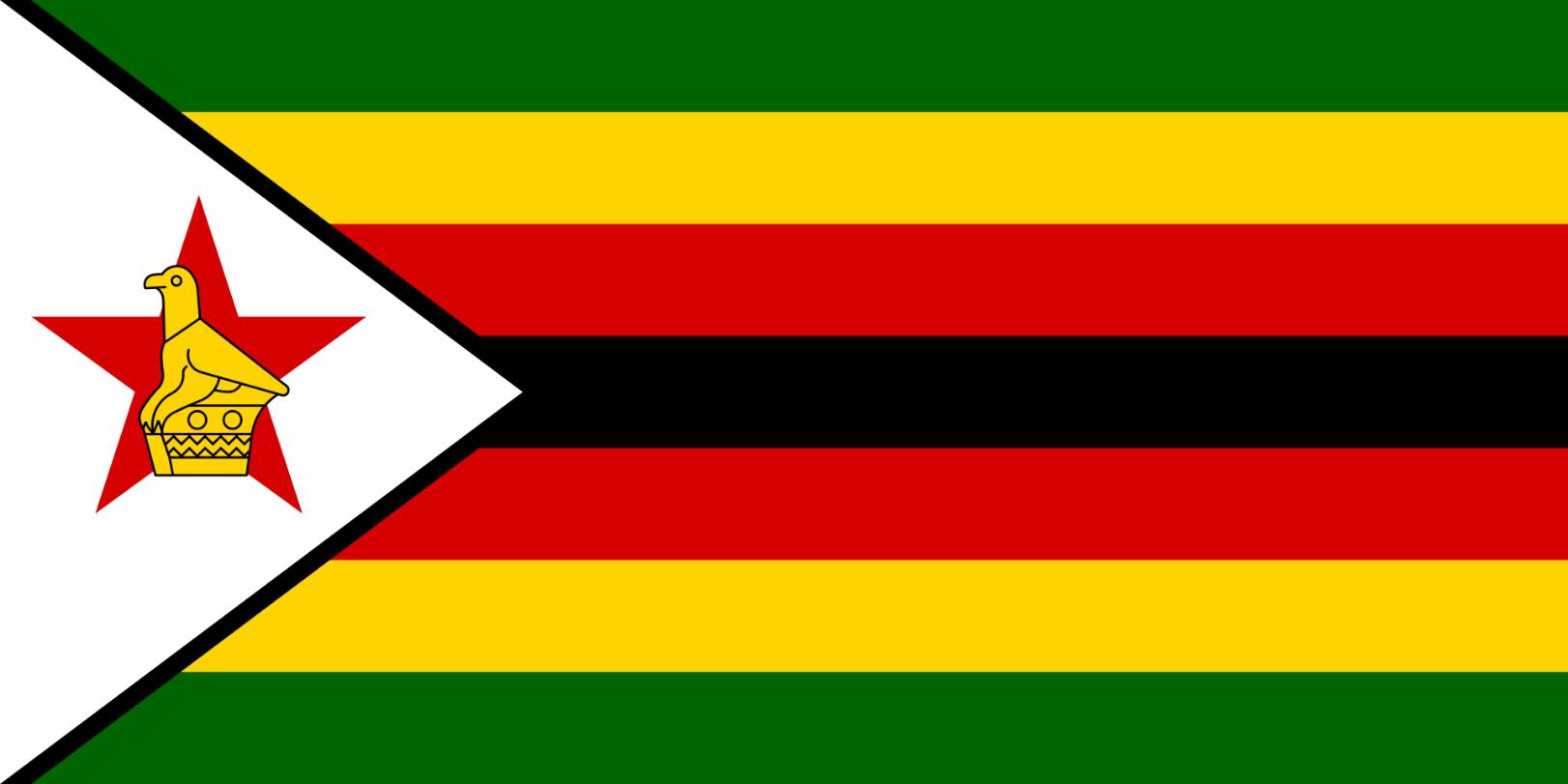 Flagge im Querformat Land Simbabwe 150x100 cm