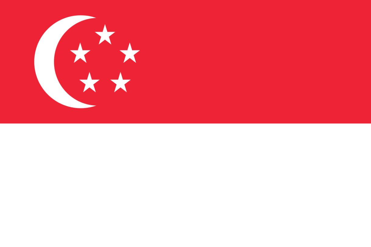 Flagge im Querformat Land Singapr 150x100 cm
