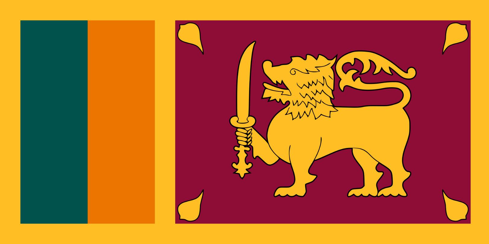 Flagge im Querformat Land Sri Lanka 150x100 cm
