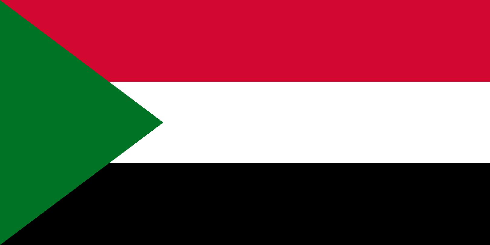 Flagge im Querformat Land Sudan 150x100 cm