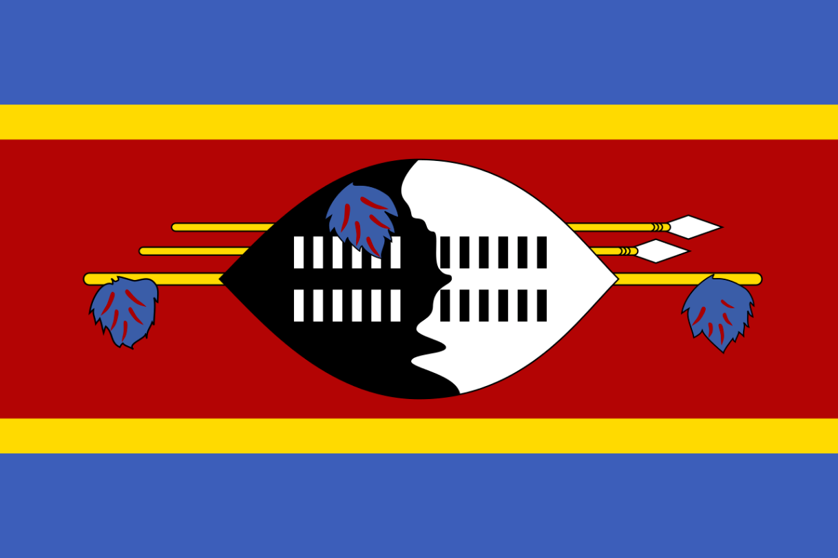 Flagge im Querformat Land Swasiland 150x100 cm
