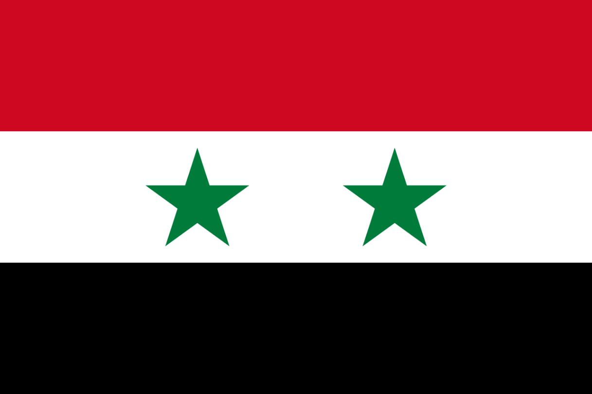Flagge im Querformat Land Syrien 150x100 cm