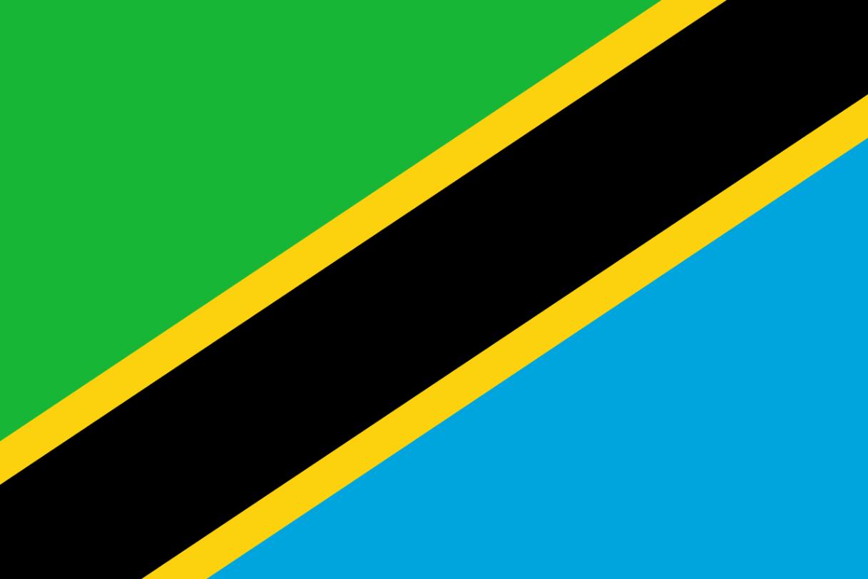 Flagge im Querformat Land Tansania 150x100 cm