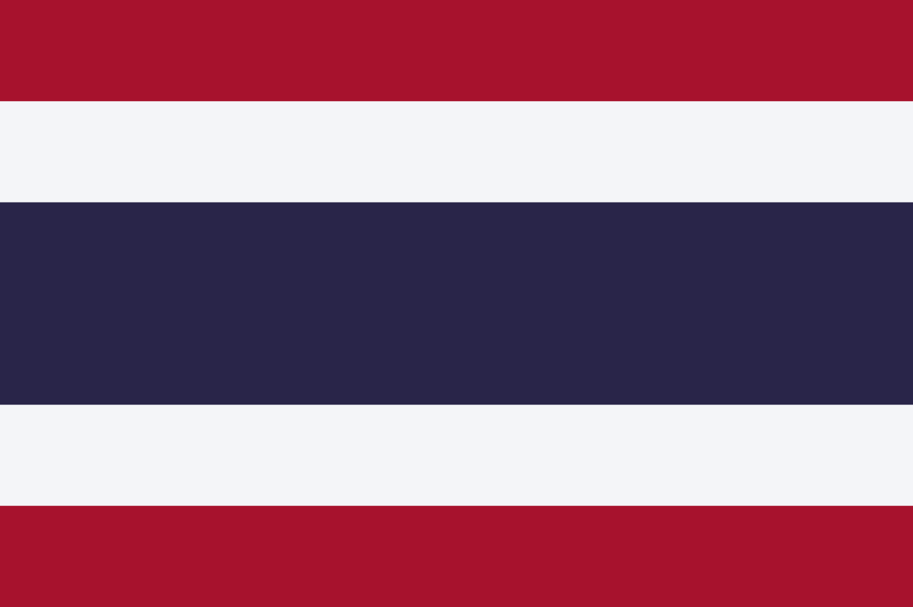 Flagge im Querformat Land Thailand 150x100 cm