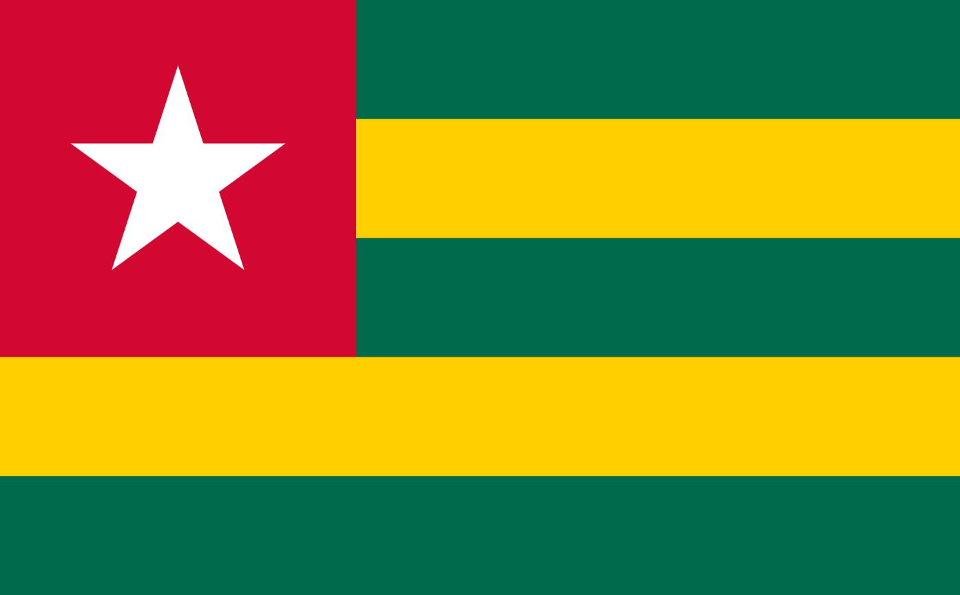 Flagge im Querformat Land Togo 150x100 cm