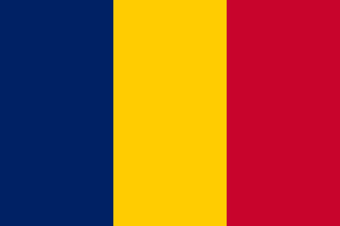Flagge im Querformat Land Tschad 150x100 cm