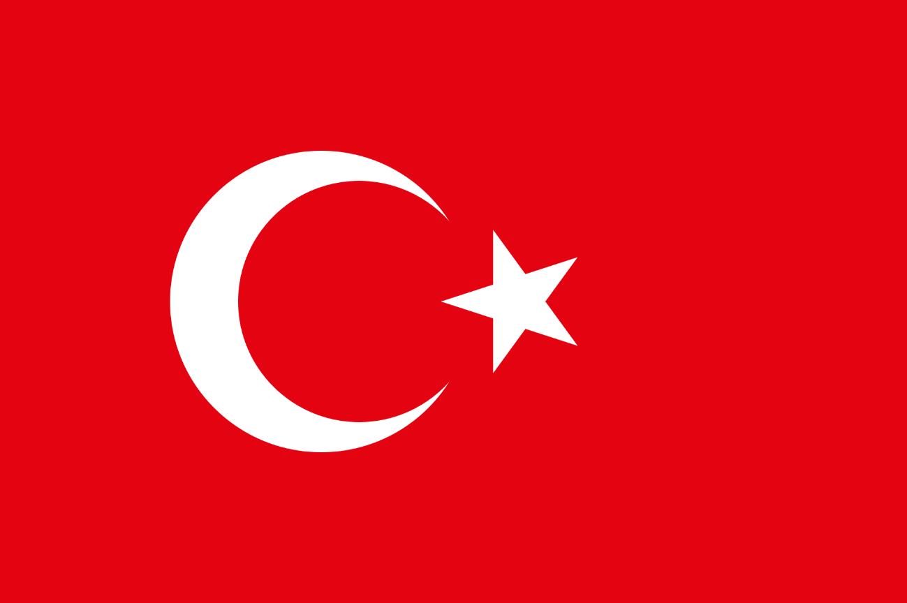 Flagge im Querformat Land T�rkei 150x100 cm