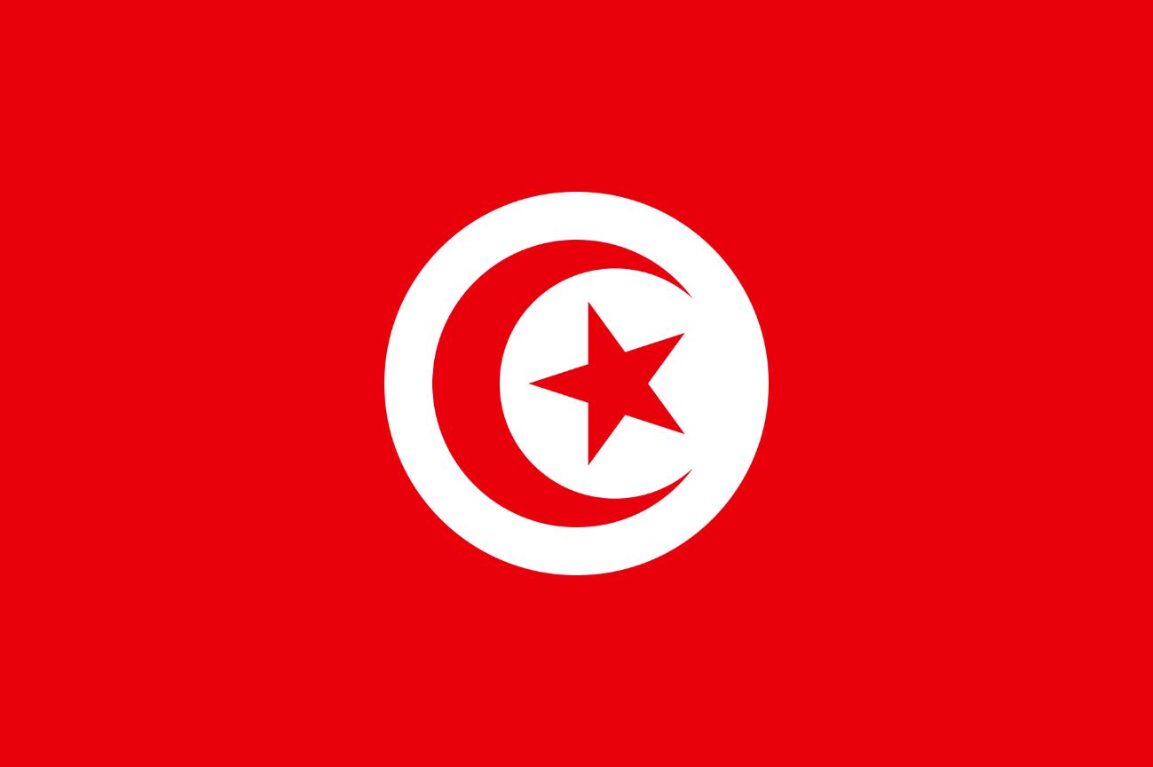 Flagge im Querformat Land Tunesien 150x100 cm