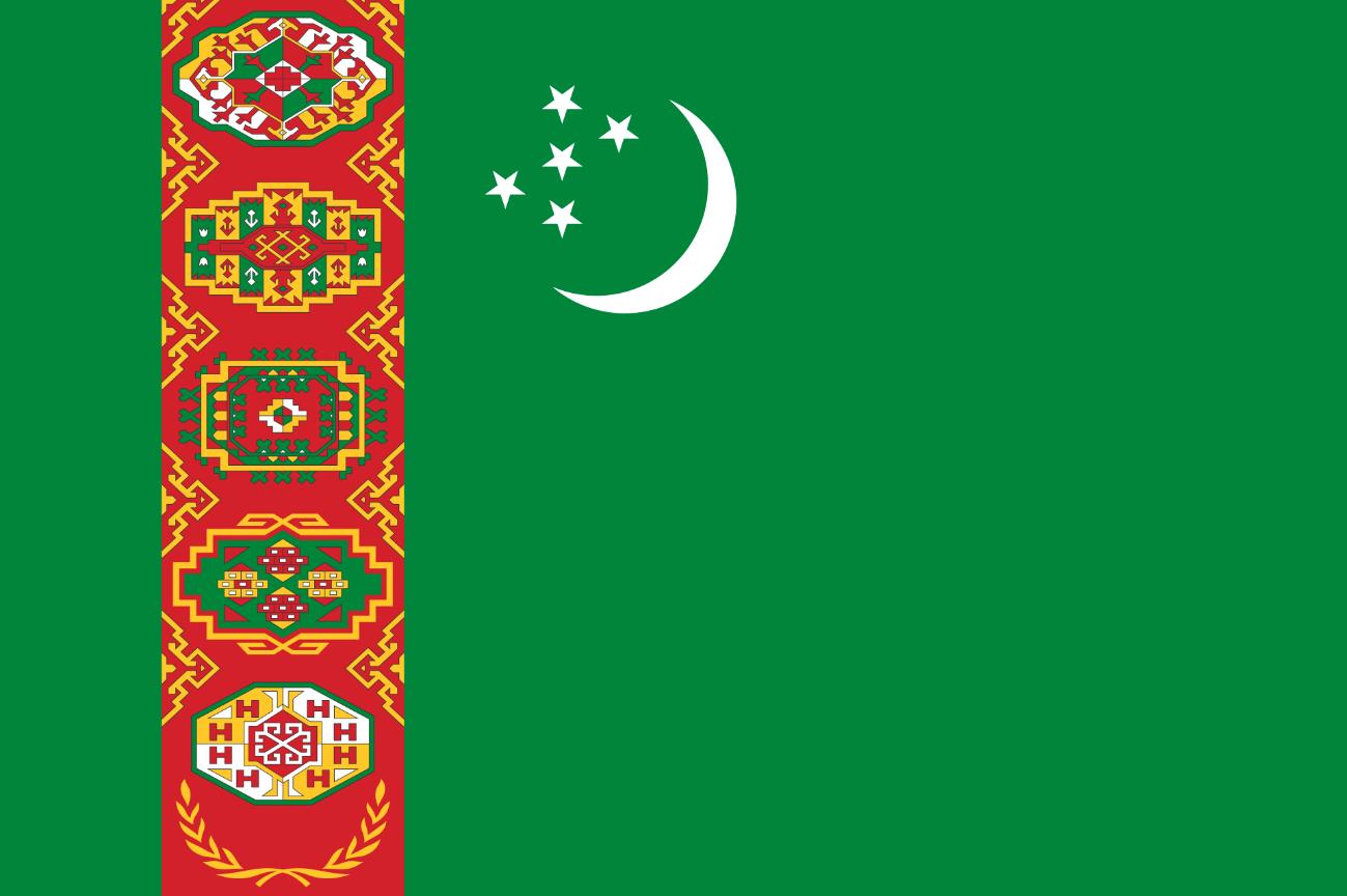 Flagge im Querformat Land Turkmenistan 150x100 cm
