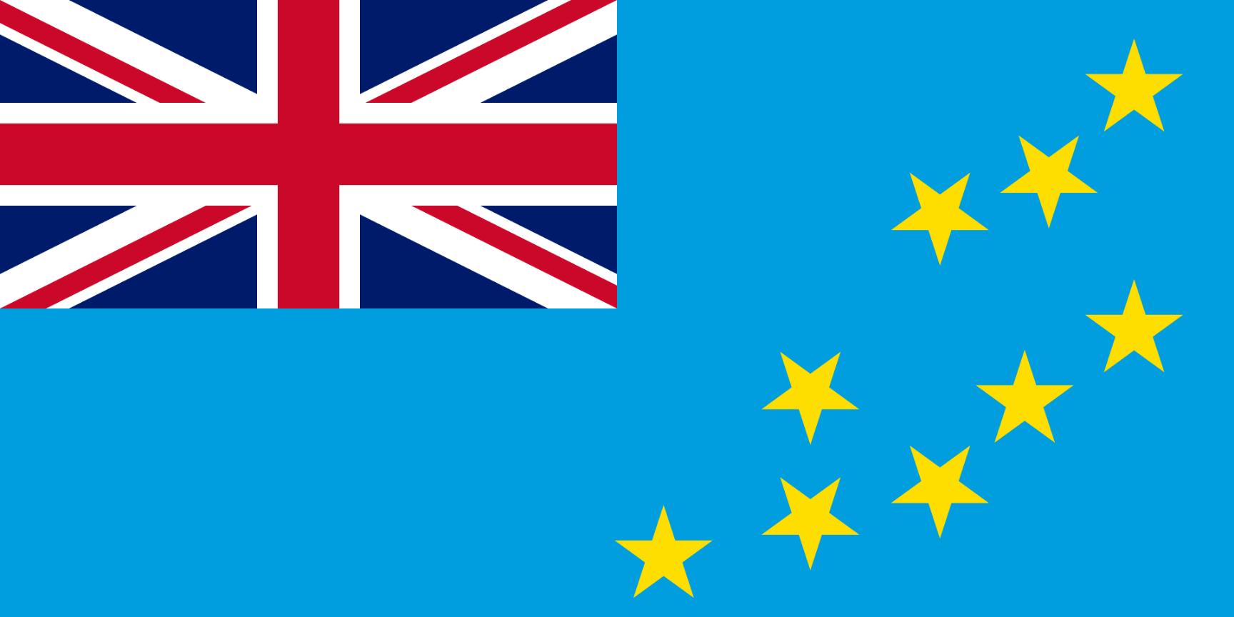 Flagge im Querformat Land Tuvalu 150x100 cm