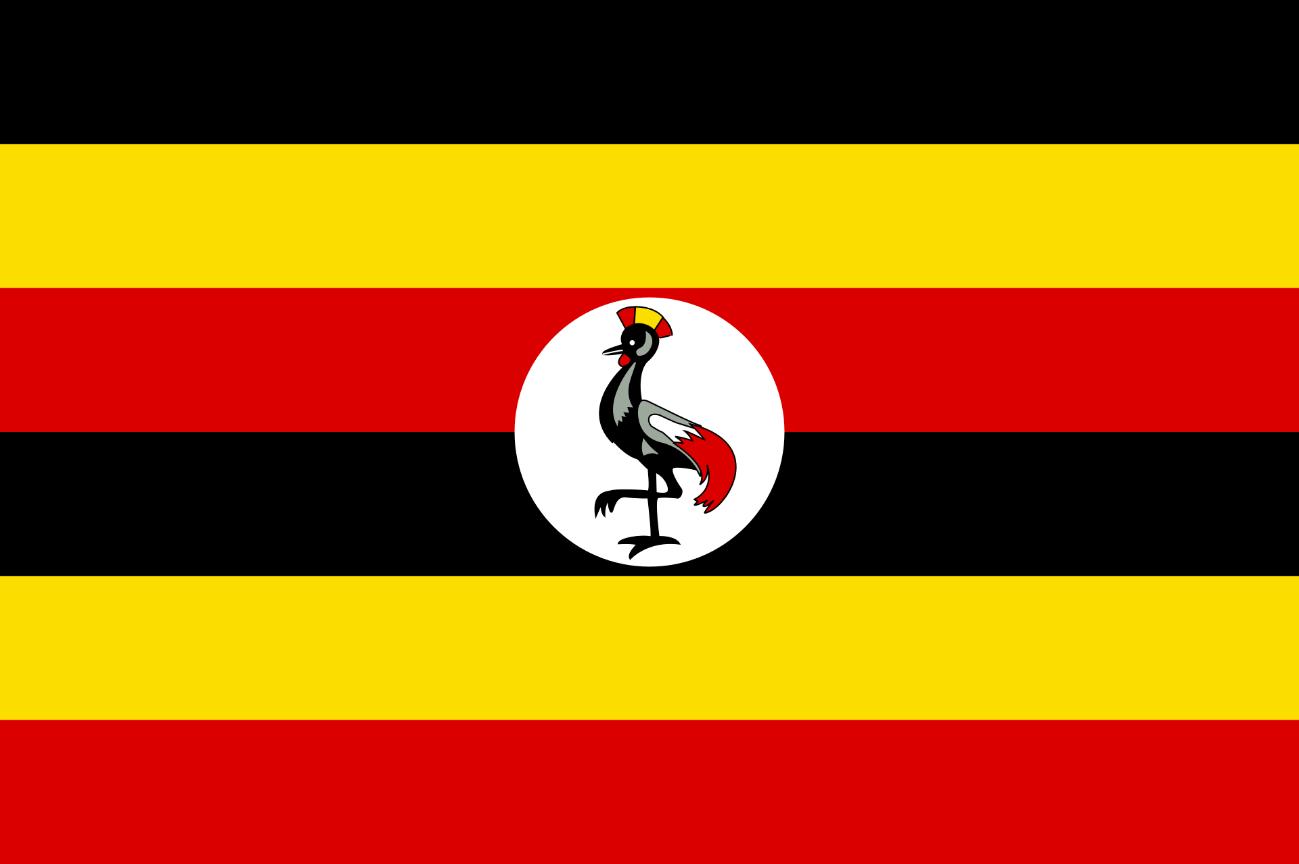 Flagge im Querformat Land Uganda 150x100 cm