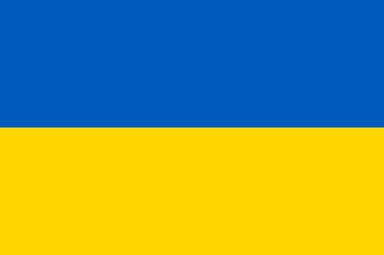 Flagge im Querformat Land Ukraine 150x100 cm