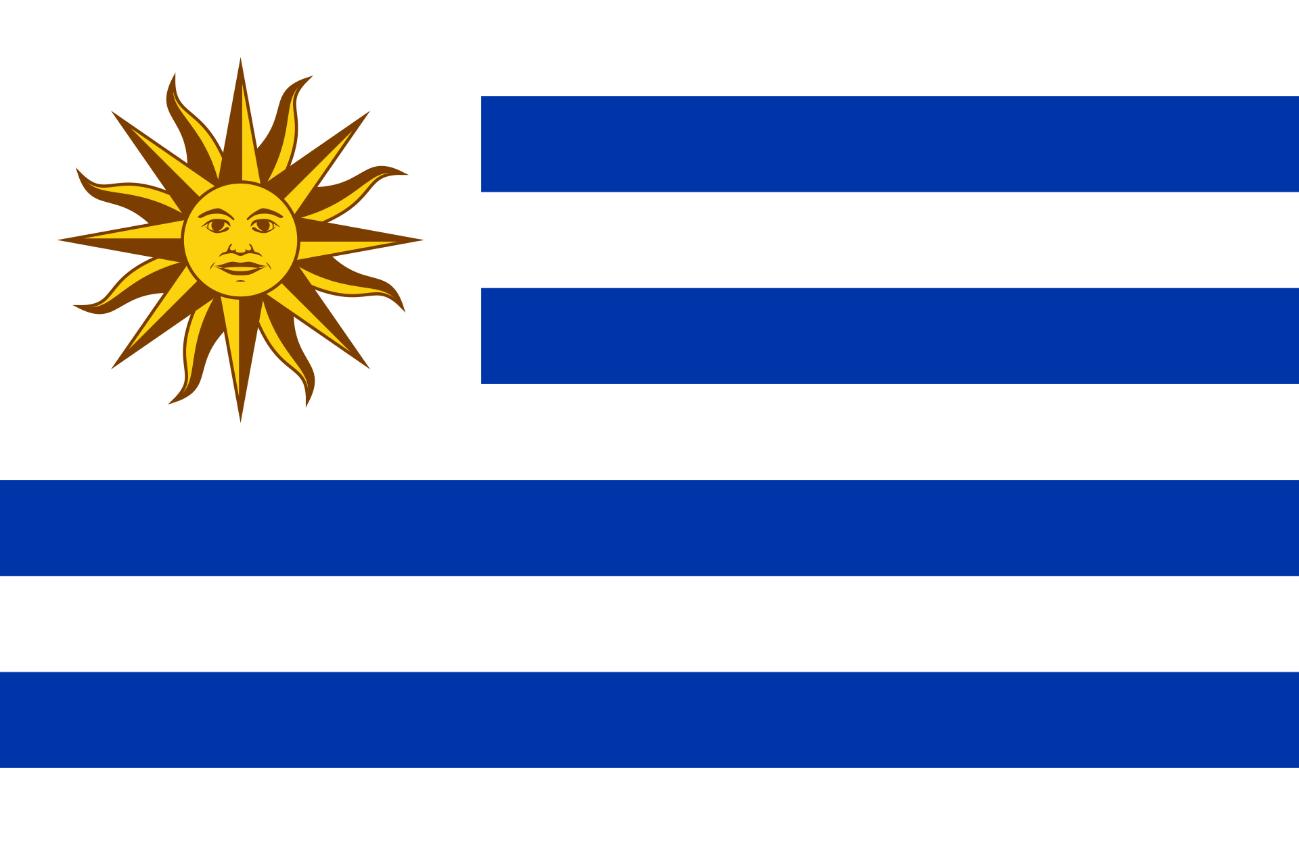 Flagge im Querformat Land Uruguay 150x100 cm