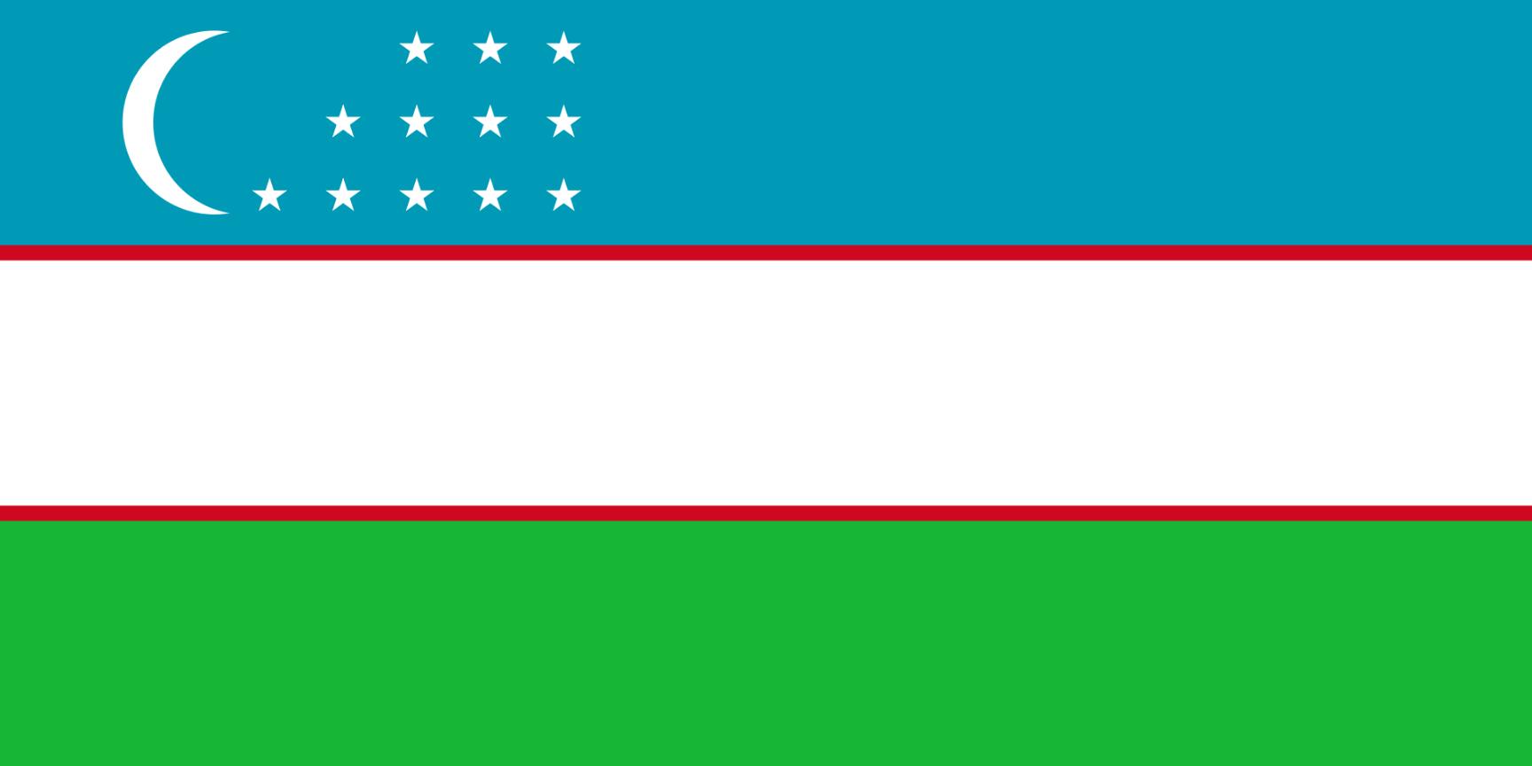 Flagge im Querformat Land Usbekistan 150x100 cm
