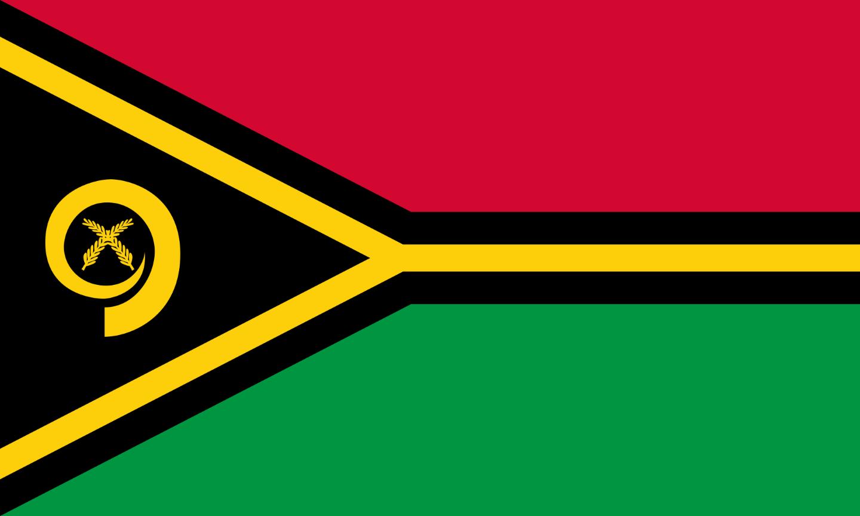 Flagge im Querformat Land Vanuatu 150x100 cm