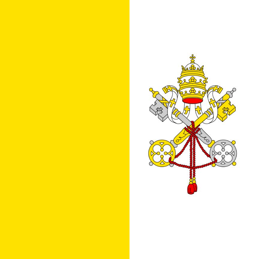 Flagge im Querformat Land Vatikan 150x100 cm