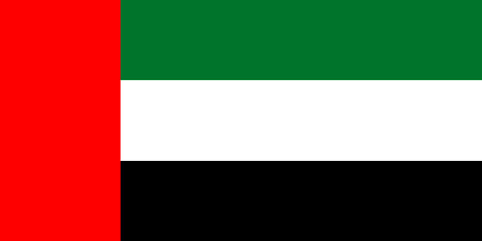 Flagge im Querformat Land VAE 150x100 cm