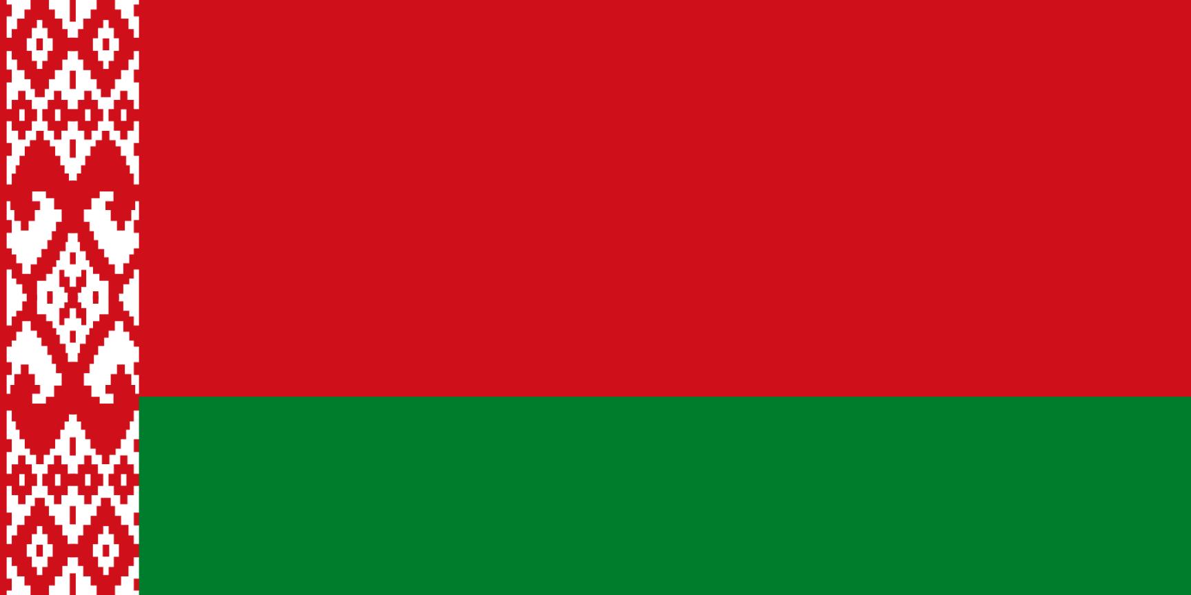 Flagge im Querformat Land Wei�russland 150x100 cm