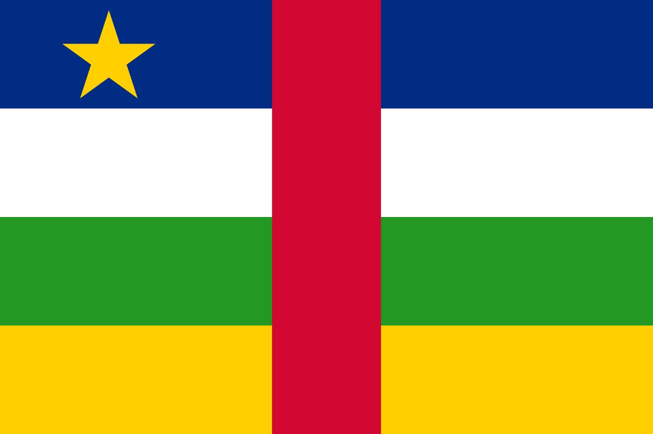 Flagge im Querformat Land Zentralafrik. Rep. 150x100 cm