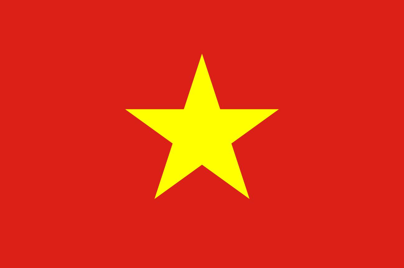 Flagge im Querformat Land Vietnam 150x100 cm