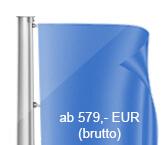 Innenseilführung, Flaggenmast aus Aluminium, konisch, starr