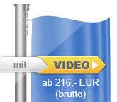 Standard-Hissvorrichtung, Flaggenmast aus Aluminium, zylindrisch, starr