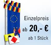 Europaflagge / Kirchenfahnen / Bootsflaggen / Tischflaggen / Wimpelketten / Signalflaggen