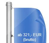 Innenseilführung, Flaggenmast aus Aluminium, zylindrisch, starr