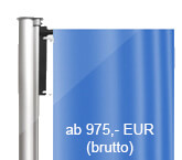 Ausleger, Flaggenmasten aus Aluminium, konisch, 360 Grad drehbar, (KAW/KAK)