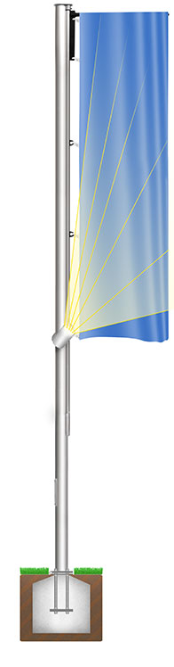 Fahnenmast FlagLight US